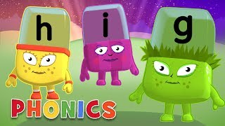 Phonics - Learn to Read | Letters G, H, I | Alphablocks