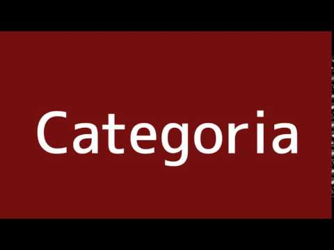 How to say Category in Spanish