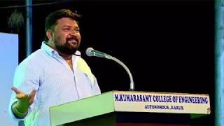 Vijay Tv Gopinath Motivational speech at MKCE || Gopinath || VIJAY TV || MKCE