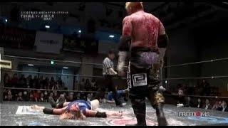Death Match - FREEDOMS - Masashi Takeda vs Daisuke Masaoka . Bloodiest Match I have ever seen