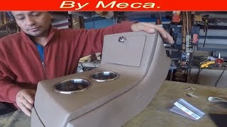 how to make ford truck center console from scratch DIY.