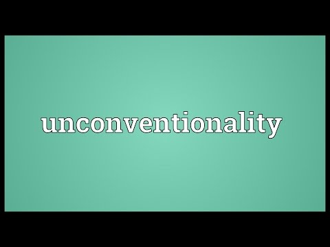 Header of unconventionality