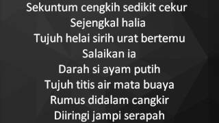 Dikir Temasek II - Jampi Serapah lyrics