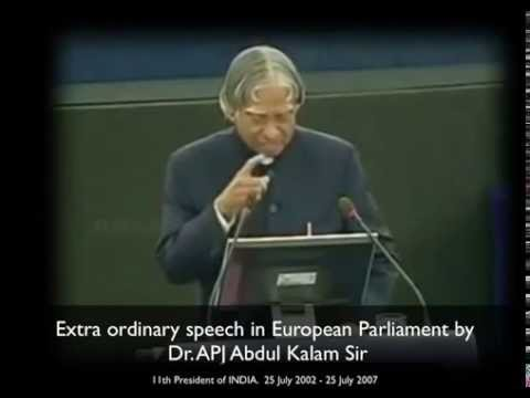 speech in apj abdul kalam On 23rd june 2010, i gave a welcome speech at the dastur school in pune to mark the beginning of teach for india's association with dr apj abdul kalam.