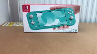 Quick Nintendo Switch Lite Unboxing (Turquoise)