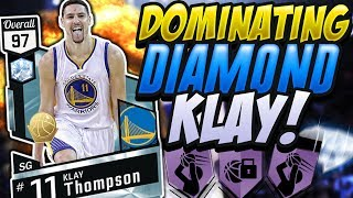 NBA 2K17 MYTEAM DIAMOND KLAY THOMPSON GAMEPLAY! BEST SG YOU CAN BUY!!!!