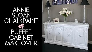 How to Paint a Bufffet Cabinet w/Annie Sloan Chalk Paint