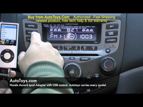 Honda Accord USB IPOD Iphone. Grom Interface with Aux Mp3. Demo & Radio Removal by AUTOTOYS