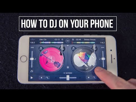 HOW TO DJ ON YOUR PHONE - IN DEPTH BEGINNER DJ LESSON