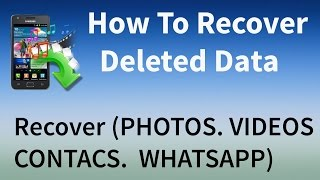 How To Recover Deleted Files IOS&ANDROID Recover Photos & Videos & Contacs & Whatsapp