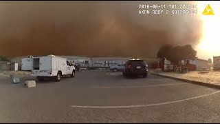 Raw Video: Vacaville Police Rescue SPCA Animals From Nearby Wildfire