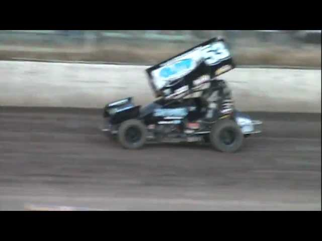 Antioch Speedway King of The West Sprint Cars 7-21-12 Heat Race #3