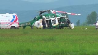 Pád vrtulníka na leteckej zakladni