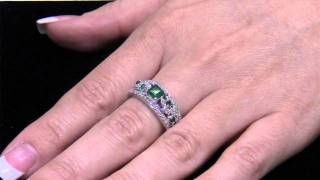 Deal of the Week: White Gold Emerald and Diamond Ring