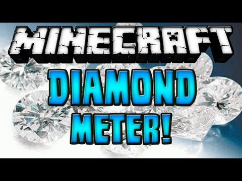 Minecraft 1.7.2 - Review de Diamond Meter MOD - ESPAÑOL TUTORIA