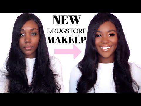 DRUGSTORE MAKEUP - Everyday Dark Skin Makeup Tutorial For Beginners + Makeup Brushes - Rose Kimberly