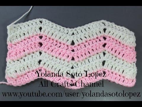 Punto ripple en #crochet  (Espanol)
