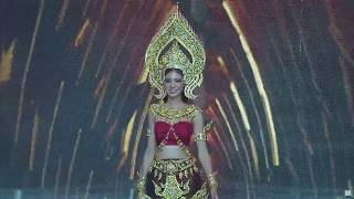 Two Miss fall down during Miss Grand Thailand 2017 National Costumes Pageant