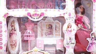 Barbie Doll Vanity Set Unboxing- Ami Channel