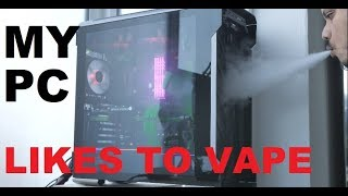 How to test PC airflow - with a vape mod phanteks Evolv X #1