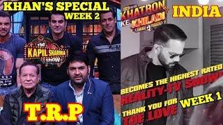 THE KAPIL SHARMA SHOW SALMAN KHAN SPECIAL | KHATRON KE KHILADI 9 OPENING WEEK | TRP | INDIA | EPIC