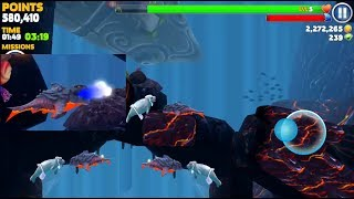 PYRO SHARK VS NEW SEAL BOSS IN VOLCANO MAP - Hungry Shark Evolution