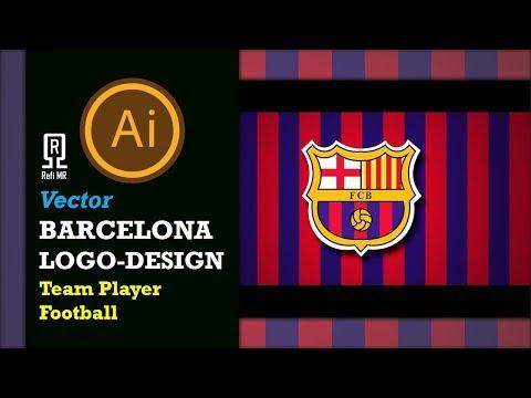 Adobe Illustrator Tutorial-Design Sport, ESport Logo-Barcelona Logo-Team Player Football