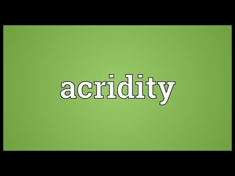 Header of acridity