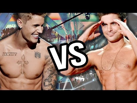 Justin Bieber VS Zac Efron – Best On Stage Striptease of 2014