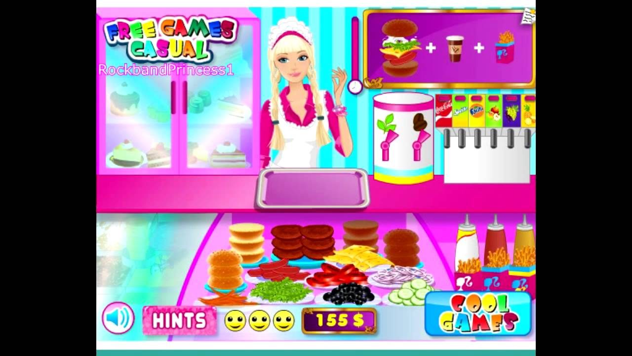 Barbie Fashion Games Online For Girls Barbie Fun Cafe Game Cooking