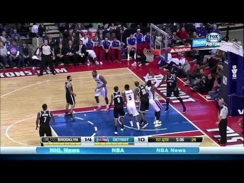 Andre Drummond & Greg Monroe: 44 pts & 24 rebs vs. Nets #NBABallot