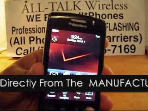 How To UNLOCK A Verizon BlackBerry Storm (2) 9550