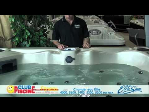 Comment faire un changement d'eau - Elite Spas 4000