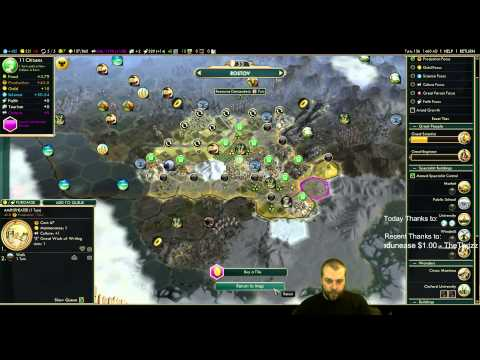 Civilization 5 Multiplayer 121: Russia [3/4] ( BNW 6 Player Free For All) Gameplay/Commentary
