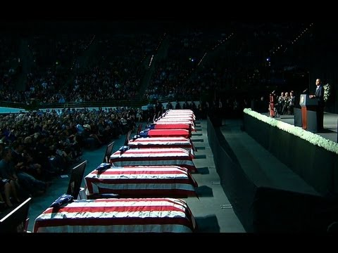President Obama Speaks at a Memorial Service for West, Texas