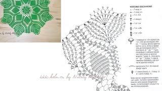 Красивое и простое вязание крючком салфетки