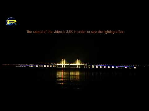 Second Penang Bridge Lighting Effect