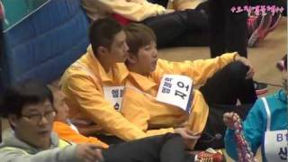 120108 Idol Star Athletics Championships - MBLAQ Seungho, and Wife(..!)