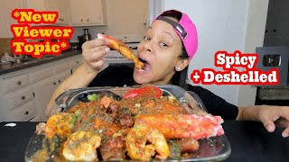 SPICY DESHELLED SEAFOOD BOIL MUKBANG!