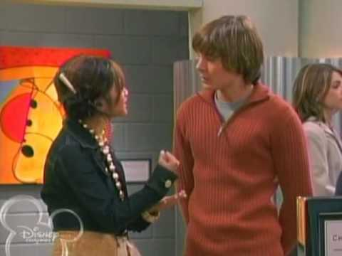 Zac Efron and Ashley on suite life of Zack and Cody