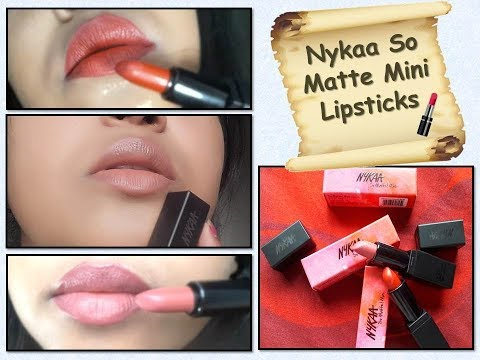 Nykaa So Matte Mini lipsticks| Review and Swatches| Comparison| English
