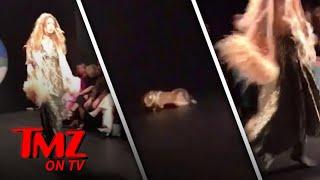Gigi Hadid Has A Runway Mishap | TMZ TV