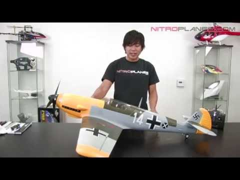 New Airfield BF 109 5ch Brushless 2.4ghz Warbird with Retracts Open Box Review
