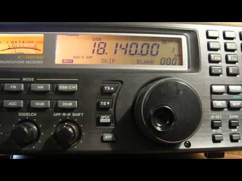 18140khz,Ham Radio,ZD7FT(Jamestown,St Helena Island) 07-10UTC.