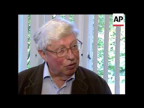 German Gerhard Ertl, on his 71st birthday, wins Nobel chemistry prize