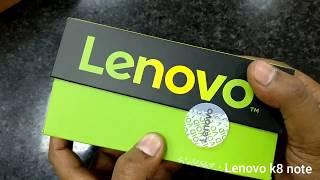 lenovo k8 note 4GB RAM 64GB storage  (venom black) unboxing and review