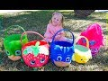 Сюрпризы Игрушки в разноцветных карзинках