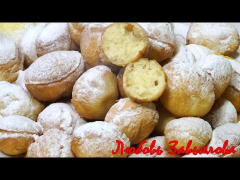 Пончики-пышки быстрого приготовления на сметане/Pyshki on sour cream