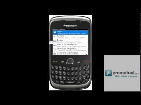 Donde y como cambio mi BlackBerry 8520 9300 Bold y otras de idioma ingles a español
