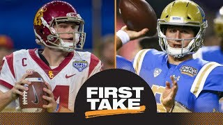 First Take debates if Browns should draft Sam Darnold or Josh Rosen | First Take | ESPN